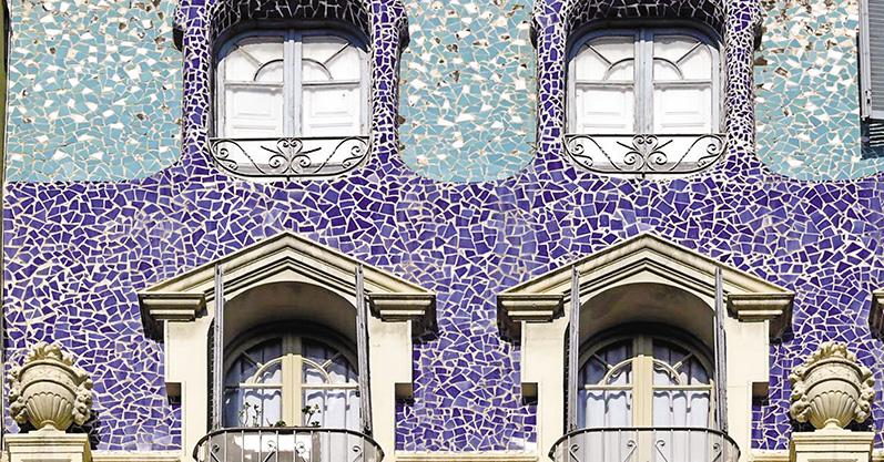 Мозаичная отделка жилых и общественных зданий стеклянной плиткой. История создания иразвития техники выполнения мозаичной отделки