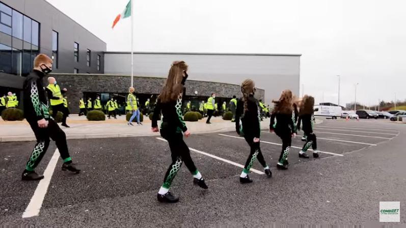 St Patrick's Day Jerusalema Dance by Combilift